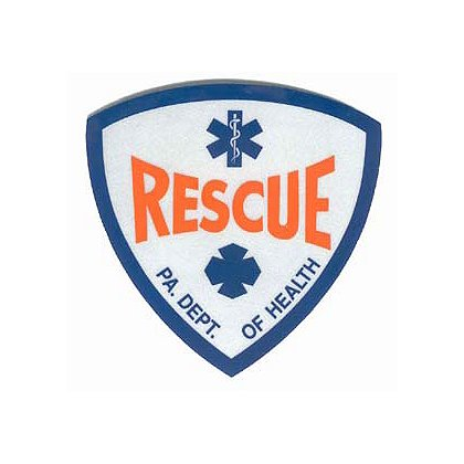 PA Rescue Reflective Decal