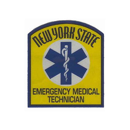 New York State Emergency Medical Technician Reflective Decal