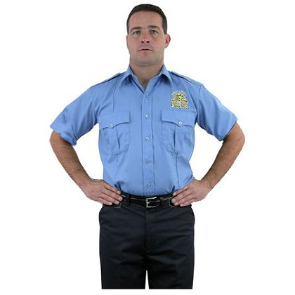 LION StationWear Bravo Short Sleeve Uniform Shirt, 100% Cotton