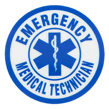 Exclusive Emergency Medical Technician Reflective Decal 1-3/4