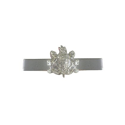 Tie Bar with Pennsylvania Coat of Arms, Silver