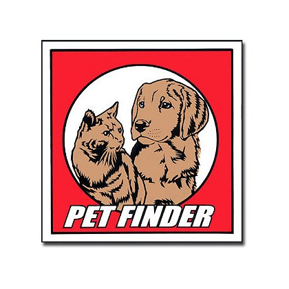 Pet Finder Decal, Round