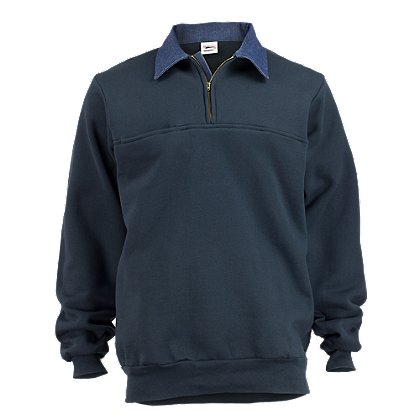 The Original Rubin Brothers Firefighter's Sweatshirt w /Denim Collar