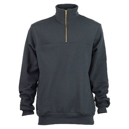 Rubin Brothers, 1/4 Zip Front Firefighter's Sweatshirt, Navy