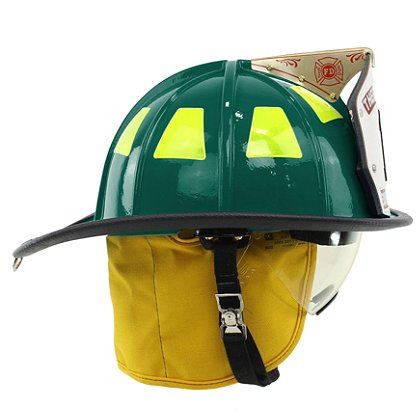 Cairns Green 1010 Traditional Fiberglass Helmet, NFPA, OSHA