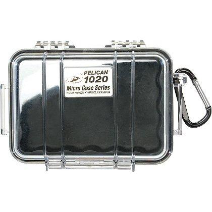 Pelican: Micro Case, Model 1020, Black w/Clear Case
