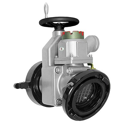Kochek Gate Valve, 25° Elbow with Relief Valve