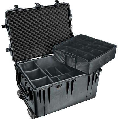 Pelican: Protector Case, Model 1664 w/ Padded Dividers