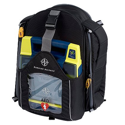 Cardiac Science: AED rescue backpack