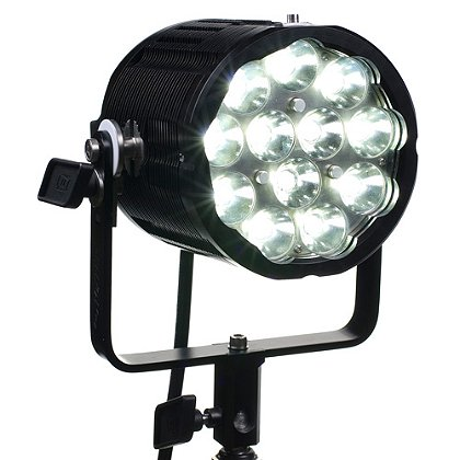 FoxFury: Sunbolt 6 Tac LED Spotlight/Search Light, 8 Degrees, 11000 Lumens, Boom or Pole Mounted