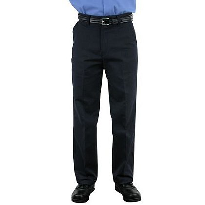 LION StationWear: Traditional Uniform Trousers, NOMEX IIIA, Unhemmed, Navy Plain Weave