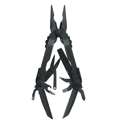 Gerber Diesel Multitool, One Handed Opening, Black Finish
