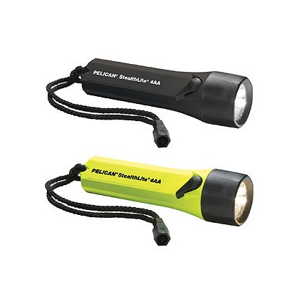 Pelican 2400 Xenon StealthLite Flashlight, 4 AA Batteries, 45 Lumens, 6.49� Long