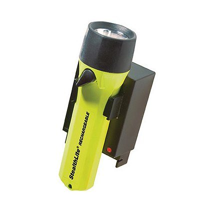 """Pelican: 2450 StealthLite Rechargeable Xenon Flashlight, 4 AA NiMH Battery Pack, 35 Lumens, 6.5"""" Long"""