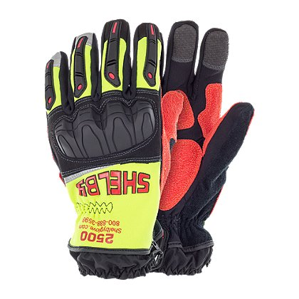 Shelby 2500 Xtrication Glove, Black and Hi-Vis Yellow