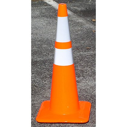 TheFireStore Traffic Safety Cone, Tri-Glo Series, 28
