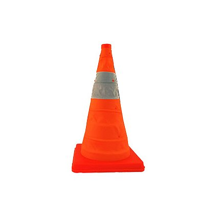 Jackson Safety: Pack and Pop Collapsible High-Vis Cones, Set of Five Cones with Carrying Case