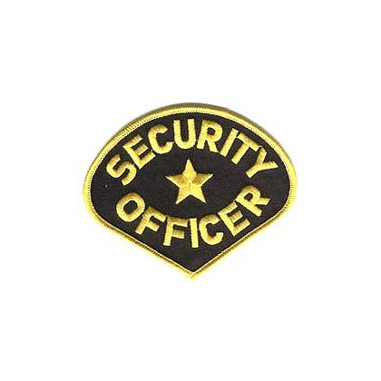 Embroidered Patch, Security Officer