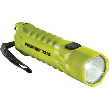 "Pelican: 3315 LED Flashlight, 3 AA Batteries, 160 Lumens, 6.14"" Long"