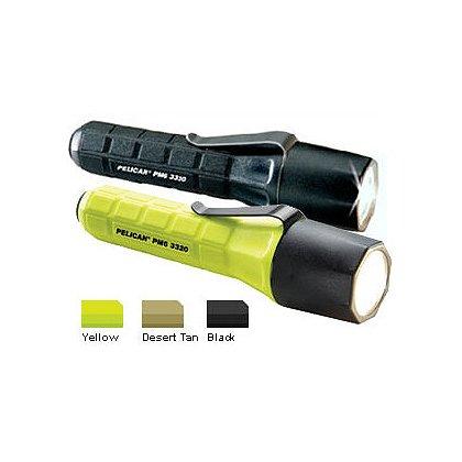 "Pelican: 3320 PM6 Xenon Flashlight, 2 CR123 Batteries, 81 Lumens, 5.27"" Long"