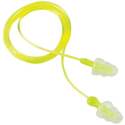 3M Peltor Reusable Tri-Flange Earplugs, 3-pk NRR 26 dB