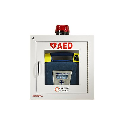 Cardiac Science: Surface mount cabinet with alarm & strobe, security enabled