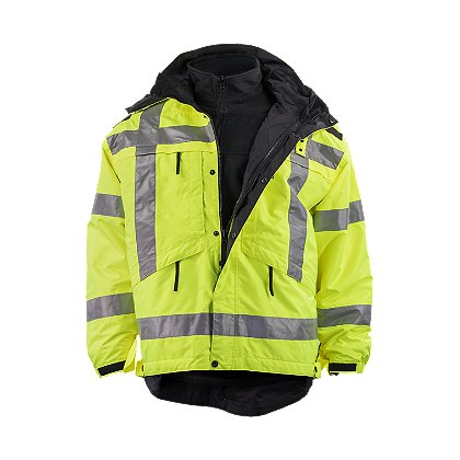 5.11 Tactical: 3-in-1 Reversible High-Vis Parka, ANSI III, with Removable Fleece Liner