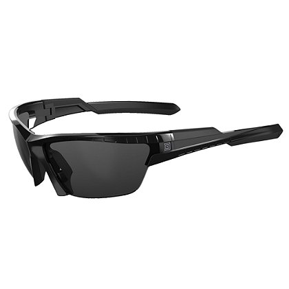 5.11 Tactical: CAVU Half Frame, Plain Sunglasses (3 Lens), Black