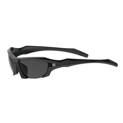 5.11 Tactical: Burner Half Frame Tactical Sunglasses Matte Black, Smoke, Clear & Ballistic Orange Lenses