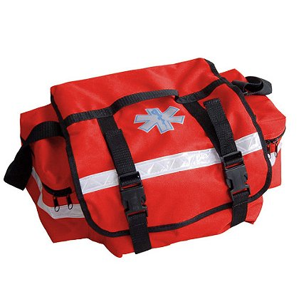 TES: First Responder Trauma Bag, Red  600D Polyester,  17