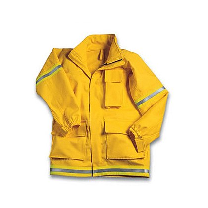 PGI Fireline Turnout Gear: FireLine Wildland Coat, Yellow Nomex IIIA
