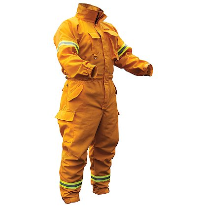 PGI Fireline Turnout Gear FireLine Wildland Jumpsuit, Yellow Nomex IIIA
