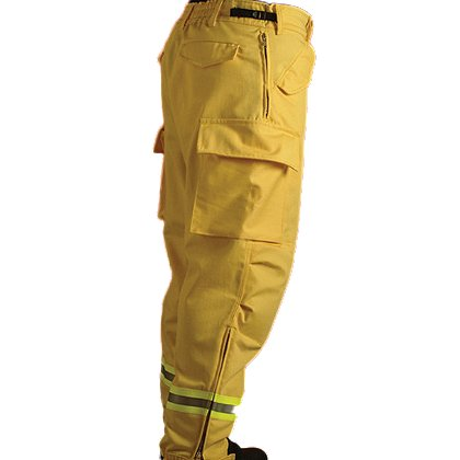 PGI Fireline Turnout Gear: Wildland Overpant, Yellow Nomex IIIA