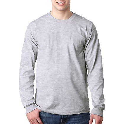 Bayside: Long Sleeve T-Shirt with Pocket
