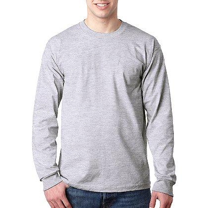 Bayside Long Sleeve T-Shirt with Pocket
