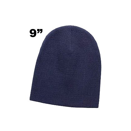TheFireStore: Superior Knit Beanie, 8, 9 or 12 inch sizes, Navy or Black