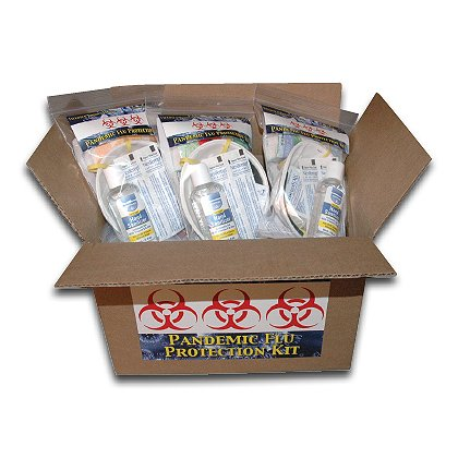 Fieldtex: Case of 12 Single Use Flu Protection Kits