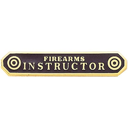 Blackinton Firearms Instructor Marksmanship Bar, Gold Plated