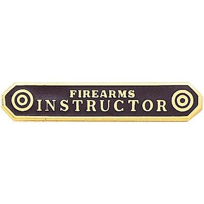 Blackinton: Firearms Instructor Marksmanship Bar, Gold Plated
