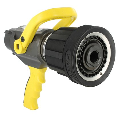Akron: 1533 Saberjet Mid-Range Single Shutoff Multi-purpose Nozzle, Pistol Grip, 1-1/2