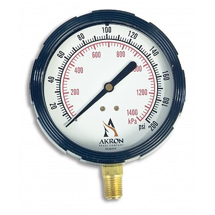 Akron: Pressure Gauge, Liquid-Filled