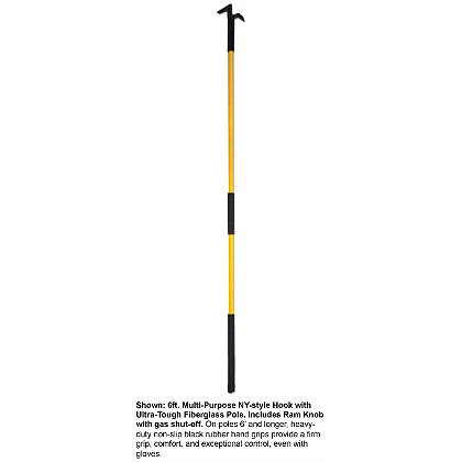 Akron: Multi-Purpose NY-Style Hook, Solid or Semi-hollow Fiberglass Pole