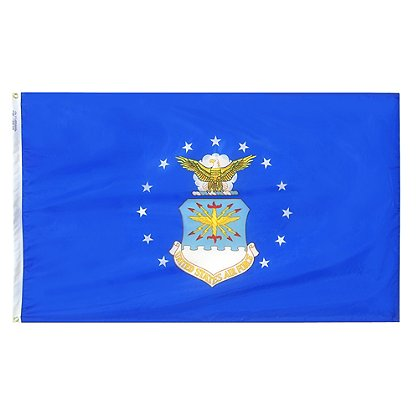 Annin Flagmakers: US Air Force 3 x 5' Nyl-Glo Military Flag
