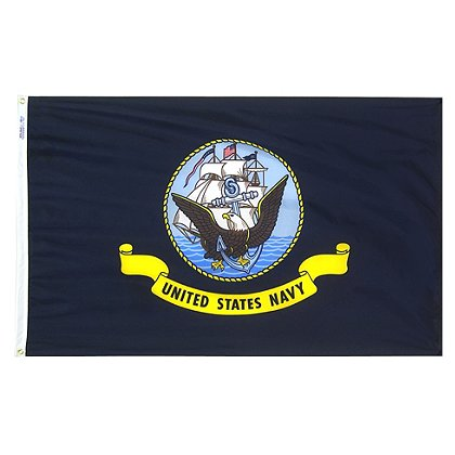 Annin Flagmakers: US Navy 3' x 5' Nyl-Glo Military Flag