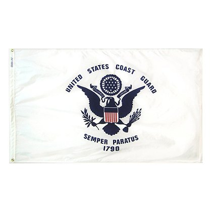 Annin Flagmakers US Coast Guard 3 x 5' Nyl-Glo Military Flag