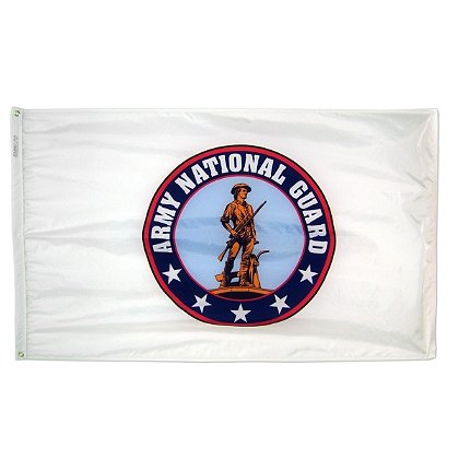 Annin Flagmakers: US National Guard 3' x 5' Nyl-Glo Military Flag