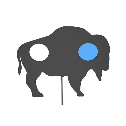Action Target: Standard AR500 Steel Rimfire Buffalo Practice Target with Back & Forth Swing Action