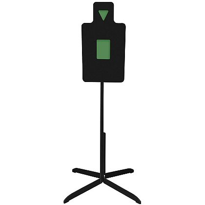 Action Target: Heavy Duty AR550 Steel Tactical Torso Practice Target with Reactive Hit Zones and 3' Stand