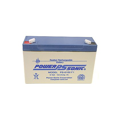 Energizer Litebox Replacement Zero-Maintenance Battery, by Power Sonic, Rechargeable, Sealed Lead Acid, U.L. Recognized