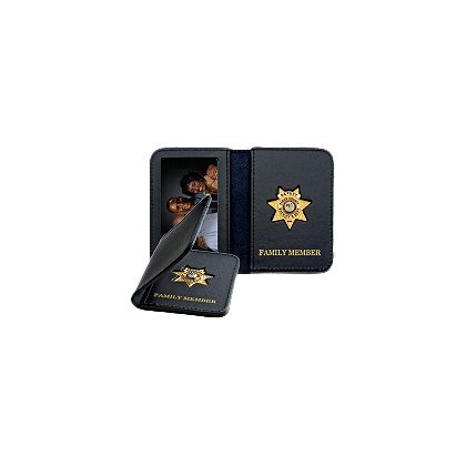Smith & Warren Mini Badge & ID Holder w/Gold Imprint
